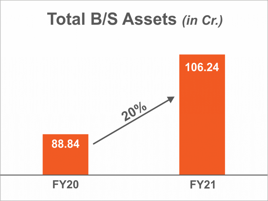 Total B/S Assets (in Cr.)